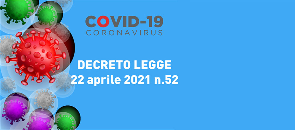SOSPENSIONE delle attività didattiche ordinarie fino al 31/05/2021 (aggiornamento Decreto-Legge 22 aprile 2021, n. 52)
